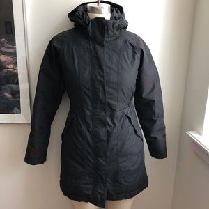 North Face Down Insulated Hyvent Parka Coat BLACK